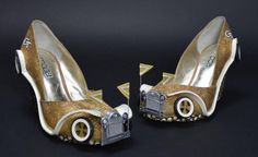 Shoes that look like a classic car? Georgia Tech industrial design students fashion a pair of high-tech shoes for their peer, Miss Georgia, inspired by the school's Ford mascot.