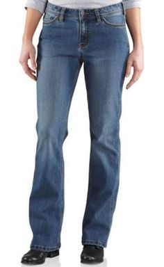 ffa8d0390d9 Carhartt Washed Indigo - front Women s Mid Rise Jeans