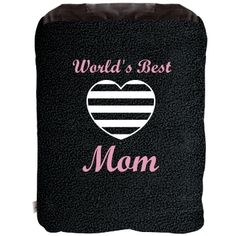 Worlds Best Mom Blanket: Custom 2-in-1 Poly Fleece Pillow Blanket - Customized Girl $24.97 #mom #mothersday #mothers #blanket #gift
