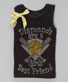 Look at this #zulilyfind! Black & Yellow 'Diamonds'  Tank - Toddler & Girls by Ready Set Sparkle Couture #zulilyfinds