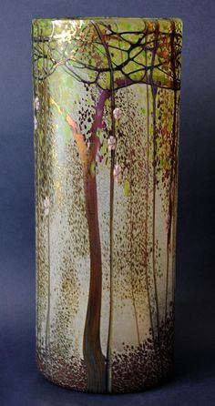 Trees Vase Trial by Richard Golding http://www.bwthornton.co.uk/isle-of-wight-richard-golding-bath-aqua-glass.php