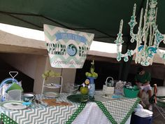 #Tulane #tailgating #football #chevron #chandelier