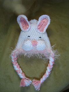 CROCHET PATTERN  hat bunnybaby pattern by EasyPeasyGrandma on Etsy, $3.95