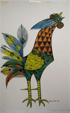 Aldemir Martins (1922-2006) Serigrafia - 197 de 500 - 1963 - 51x32cm. Buyed from Tableau Arte & Leilões in April 2016.