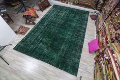 Emerald Graze - Vintage Turkish Carpet
