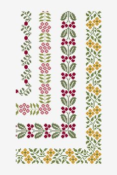 Discover thousands of images about Ancient Floral Borders - pattern - Free Cross stitch patterns - DMC Motifs Blackwork, Blackwork Cross Stitch, Celtic Cross Stitch, Small Cross Stitch, Cross Stitch Heart, Cross Stitch Borders, Cross Stitch Flowers, Cross Stitch Designs, Cross Stitching