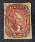 CKStamps: US Stamps Collection Scott#12 5c Jefferson Used Tiny Thin Reback $700
