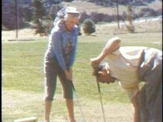 Marilyn playing golf