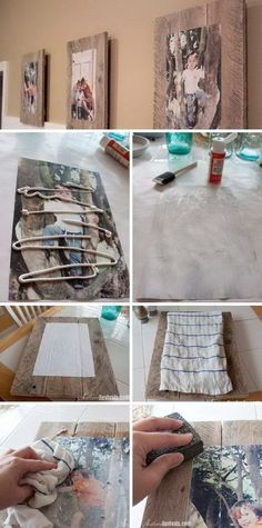 DIY Pallet Photo Frames With Mod Podge Photo Transfer.