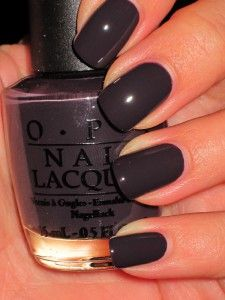 """i brake for manicures"" fall 2011 OPI.  I love these dark colors!!! so in for short square nails. ( at least that is what the girl that does my nails says)"