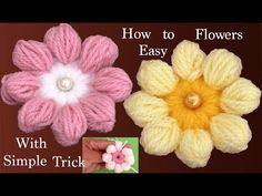 We will show you how to make simple Needle Woven Flowers in 10 minutes. If you are looking for a lovely flower patterns you have come to the right place Hand Embroidery Art, Embroidery Flowers Pattern, Custom Embroidery, Flower Patterns, Learn To Crochet, Easy Crochet, Crochet Flowers, Fabric Flowers, Japanese Ornaments