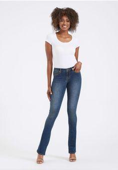 Liz Black Vintage Skinny Power Stretch COJ Jeans Damen