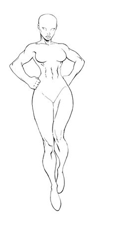 female superhero template female body template for fun female