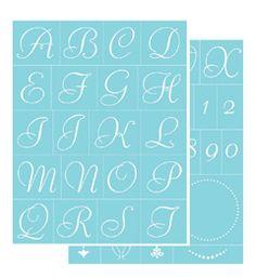 Martha stewart crafts glass adhesive stencils fancy alphabet martha stewart crafts glass silkscreen elegant alphabet spiritdancerdesigns Images