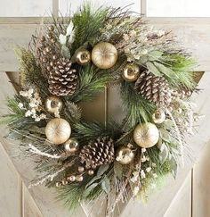 Lovely Rustic Christmas Wreaths for my Farmhouse - My Cozy Colorado wreaths Lovely Rustic Christmas Wreaths for my Farmhouse Blue Christmas Decor, Christmas Wreaths To Make, Gold Christmas, Holiday Wreaths, Rustic Christmas, Beautiful Christmas, Christmas Crafts, Homemade Christmas, Artificial Christmas Wreaths