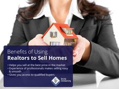 Benefits of Using Realtors to Sell Homes:  Helps you sell at the best price in the market  Experience of professionals makes selling easy & smooth  Gives you access to qualified buyers Sydney Area, Good Things, Things To Sell, Benefit, Smooth, Homes, Marketing, Easy, How To Make