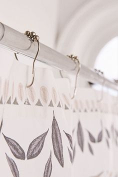 Urban Outfitters Sketched Floral Medallion Shower Curtain - Mauve One Size Curtain Accessories, Bath Accessories, Decorative Accessories, Flower Shower Curtain, Shower Curtain Rings, Metal Curtain, Stainless Steel Types, Curtains With Rings, Wooden Rings