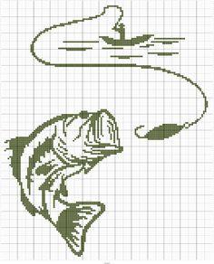 Large Mouth Bass w/ Fisherman