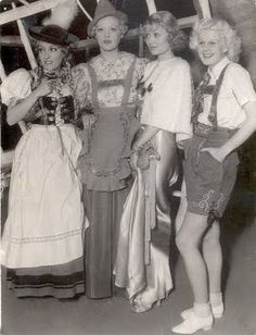 Gloria Swanson, Marion Davies, Constance Bennett and Jean Harlow at the Tyrolean party at Ocean House in Old Hollywood Stars, Old Hollywood Glamour, Golden Age Of Hollywood, Vintage Hollywood, Classic Hollywood, Hollywood Icons, Hollywood Celebrities, Hollywood Actresses, Hollywood Costume