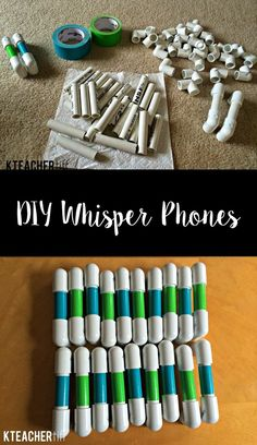 It's easy to make whisper phones for your classroom using only PVC pipe and duck tape! Your students will love this simple tool for reading practice! by simone Classroom Supplies, Classroom Setup, Kindergarten Classroom, School Classroom, Classroom Organization, Future Classroom, Classroom Management, Diy School, School Stuff