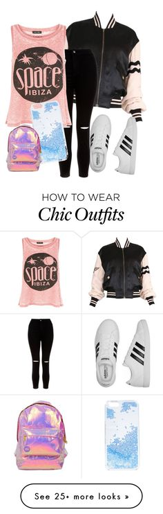 """Untitled #22"" by judix on Polyvore featuring Moschino, New Look, adidas, Skinnydip and Miss Selfridge"