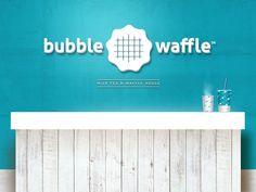 Bubble Waffle Milk Tea + Waffle House #brand #design #logo #packaging #menu #store #beesandvultures