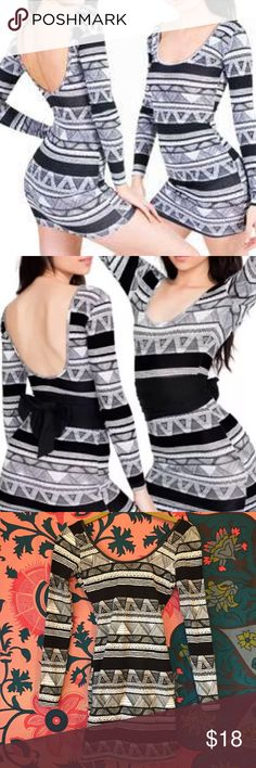 ❗️WINTER SALE ❗️ Afrika Long Sleeve Bodycon Dress ♠️ Worn only once! ♠️ A sexy long sleeved mini-dress featuring a scoop back, in a form-fitting fabric for a smoothing effect. 95% Cotton / 5% Spandex construction. Form-fitting. Can be dressed up with a pair of strappy, lace up heels or dressed down with a denim jacket and your favorite motorcycle booties! Fits snug. American Apparel Dresses Mini