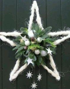 Christmas Flowers, Noel Christmas, Rustic Christmas, Winter Christmas, Handmade Christmas, Christmas Christmas, Christmas Projects, Christmas Crafts, Christmas Ornaments