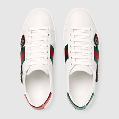 Gucci Sneakers, Adidas Sneakers, Plimsolls, Designing Women, White Leather, Trainers, Louis Vuitton, Shoes, Arrow