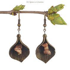 Hippie gypsy earrings sunstone jewelry drop by DSNatureetCreation https://www.etsy.com/listing/287845443/hippie-gypsy-earrings-sunstone-jewelry
