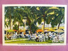Postcard Bahamas Nassau Tea Gardens the British Colonial Hotel                                                                                                                                                     More