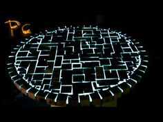 Glow in the dark wooden furniture ( high-res ) - YouTube