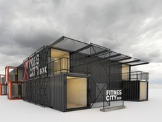 Fitness Box - Business Boxing Box Architecture, Container Architecture, Sustainable Architecture, Container Cafe, Container House Design, Grill Door Design, Gym Design, Fitness Box, Casas Containers