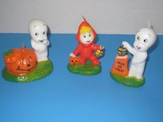 Vintage 1986 Casper the Friendly Ghost & Wendy Candle Lot ~ Halloween ~