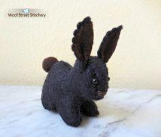 SOLD. Stuffed bunny rabbit by WoolStreetStitchery on Etsy