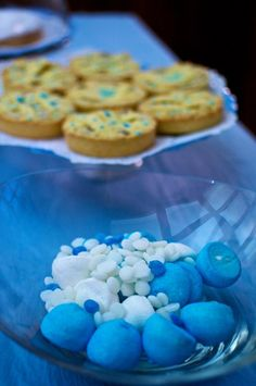White and blue sweeties