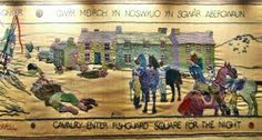 Fishguard Tapestry, commemorating the last invasion of Wales Art For Art Sake, Wales, Tapestry, Embroidery, History, Hanging Tapestry, Tapestries, Needlepoint, Historia