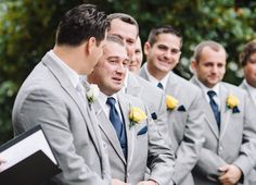 Usually it's the groom crying as the bride walks down the aisle but in this case the best man got emotional! Great photo taken by Steven of The Markows in New Jersey.