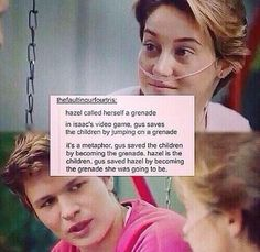 what what?! The Fault in Our Stars Augustus and Hazel