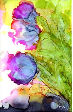 Abstract Flowers by Maria Pazos Alcohol Inks see the to being made by Vida at  http://www.shopvida.com/collections/maria-pazos
