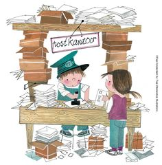 Het Postkantoor - Fiep Westendorp - Copyright Fiep Amsterdam BV, Fiep Westendorp Illustrations