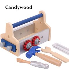 Детская деревянная многофункциональный набор инструментов обслуживания коробка деревянная игрушка Детские Комбинированная гайка инструмент игрушки развивающиекупить в магазине Candywood StoreнаAliExpress