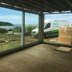 Those views.... Property location: Pembrokeshire, Wales  #slidingdoors #bifolddoorfactory #bifolddoors #schuco #homeimprovement #bifold