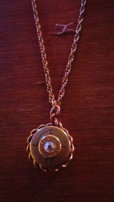 50 cal pendant with 357 mag and Aurora crystal