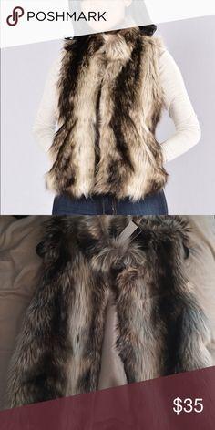 FASHION NOVA FAUX FUR VEST NWT NOVA FUR VEST WITH POCKETS Fashion Nova Jackets & Coats Vests