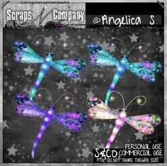"""""""DRAGONFLY CU"""" by Angelica S. 2 color packs  http://scrapsncompany.com/index.php?main_page=advanced_search_result&search_in_description=1&keyword=dragonfly+angelica&x=0&y=0"""