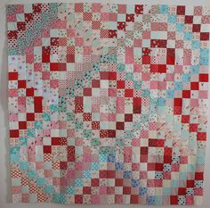 Scrappy Trip Quilt Top by Erin @ Why Not Sew? Quilts, via Flickr