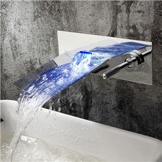 (Entrepôt UE) couleur chrome finition évolution conduit cascade mural salle  de bains robinet d a0f91869b0f7