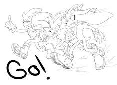 Sonic and Co. favourites by Sweatshirtmaster on deviantART Sonic The Hedgehog, Silver The Hedgehog, Shadow The Hedgehog, Sonic And Amy, Sonic And Shadow, Sonic Fan Art, Tikal, Pretty Art, Cute Art