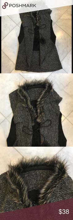 Grecia Castro Collection faux fur sweater vest NWT. This classy piece will bring together any outfit. Pair it with the Singh necklace I have in my closet and voila! Acrylic and nylon blend for easy care. Grecia Castro Collection Sweaters